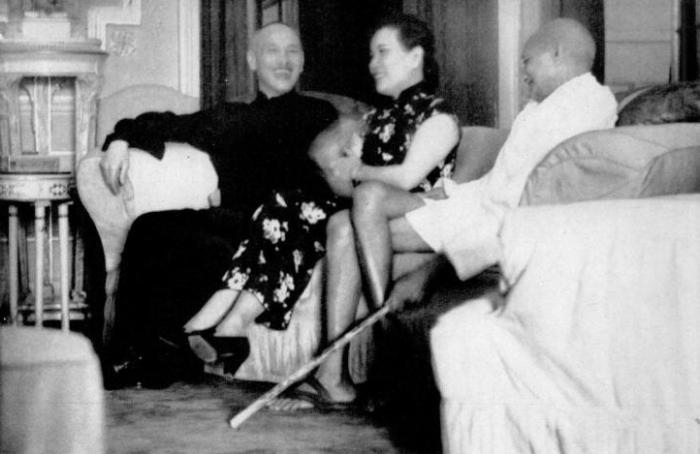 蔣介石、宋美齡跟甘地